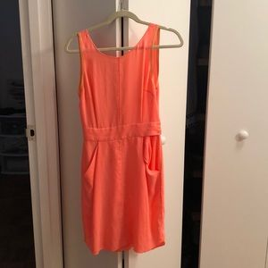 Aritzia (Wilfred) bright open back dress